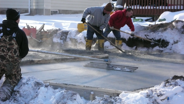 Concreting in ottawa cold weather solutions trp ready mix for Concrete freezing