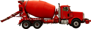 red concrete truck