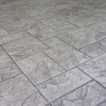 Grey brick stamped concrete