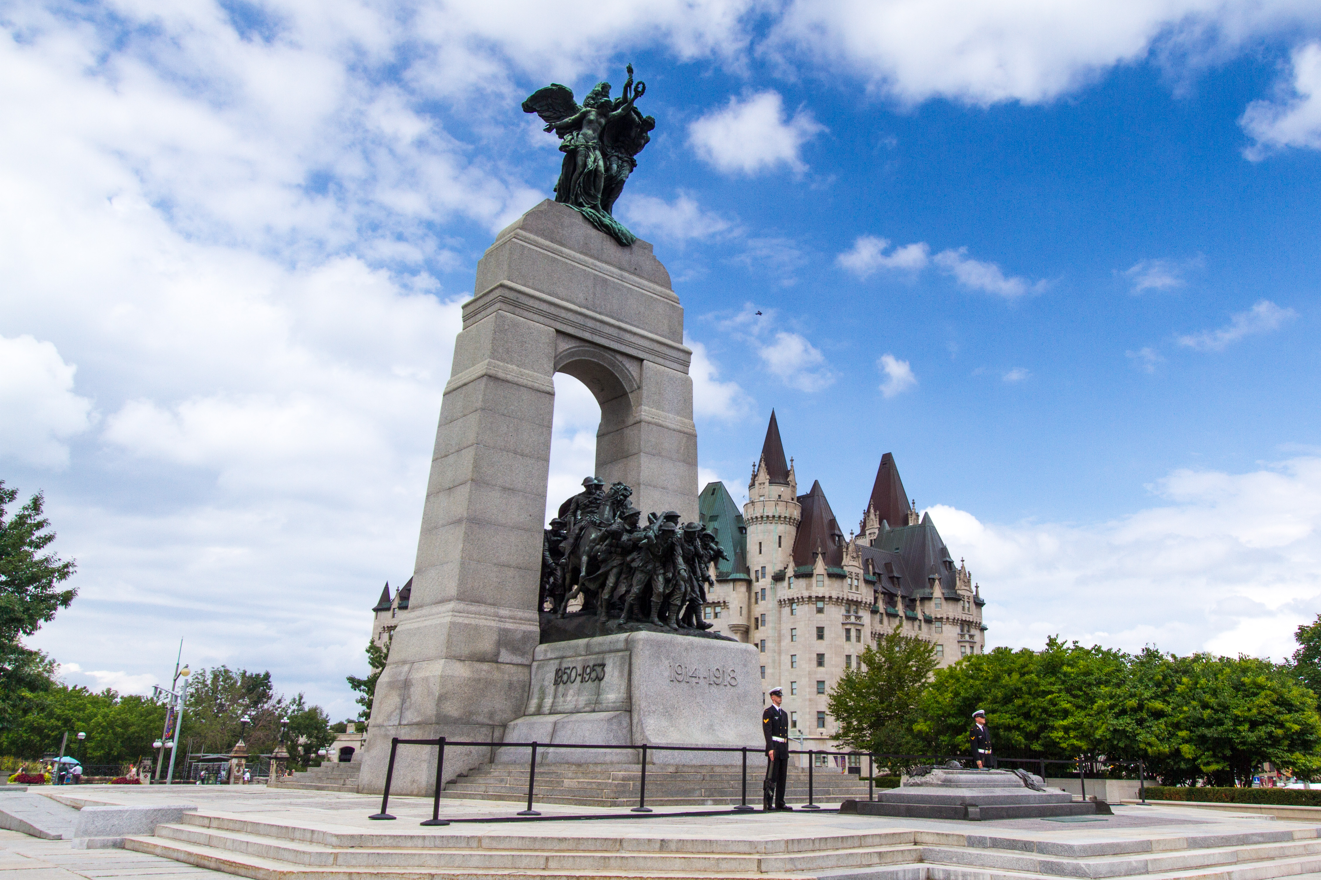 Concrete in Ottawa being used for creative monuments.